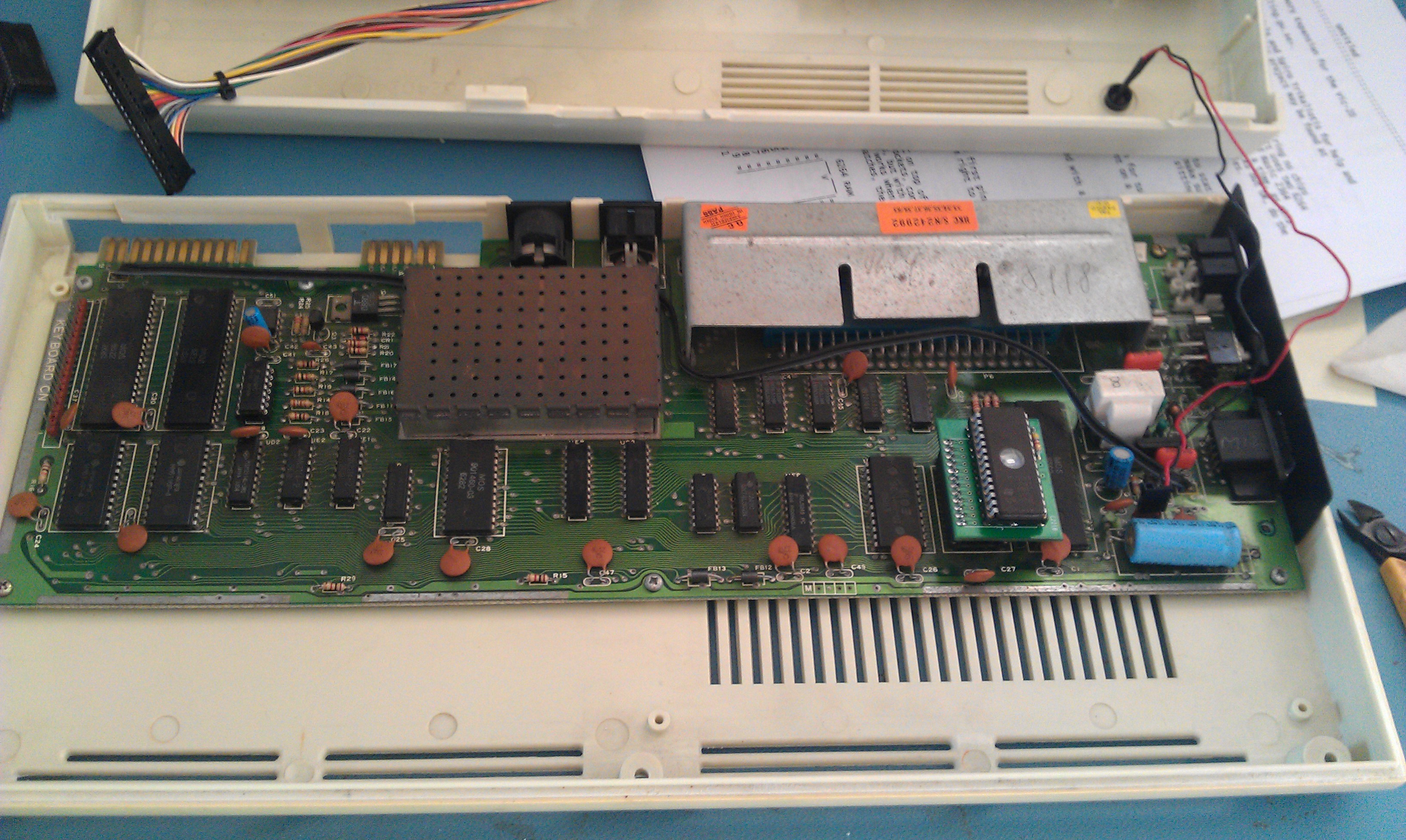 Commodore Vic20 Memory Upgrade And A Few Pictures Of The Board Internals You Can See My Custom In Lower Right Hand Corner Pcb