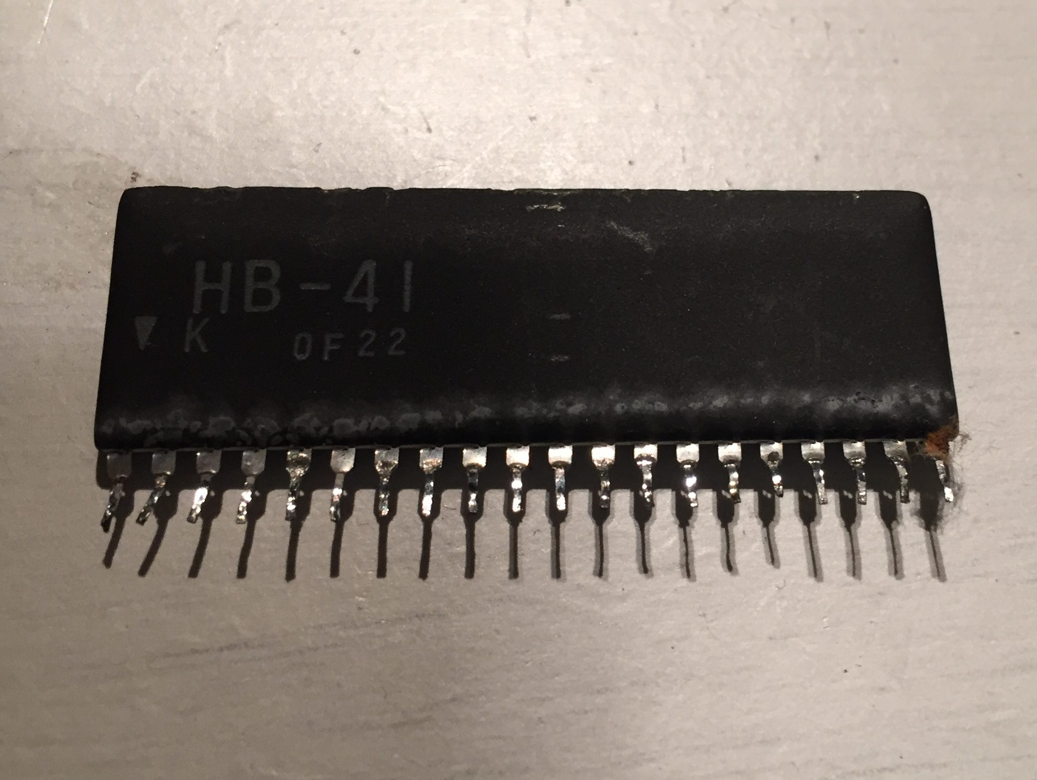 Faulty HB-41 SIL package