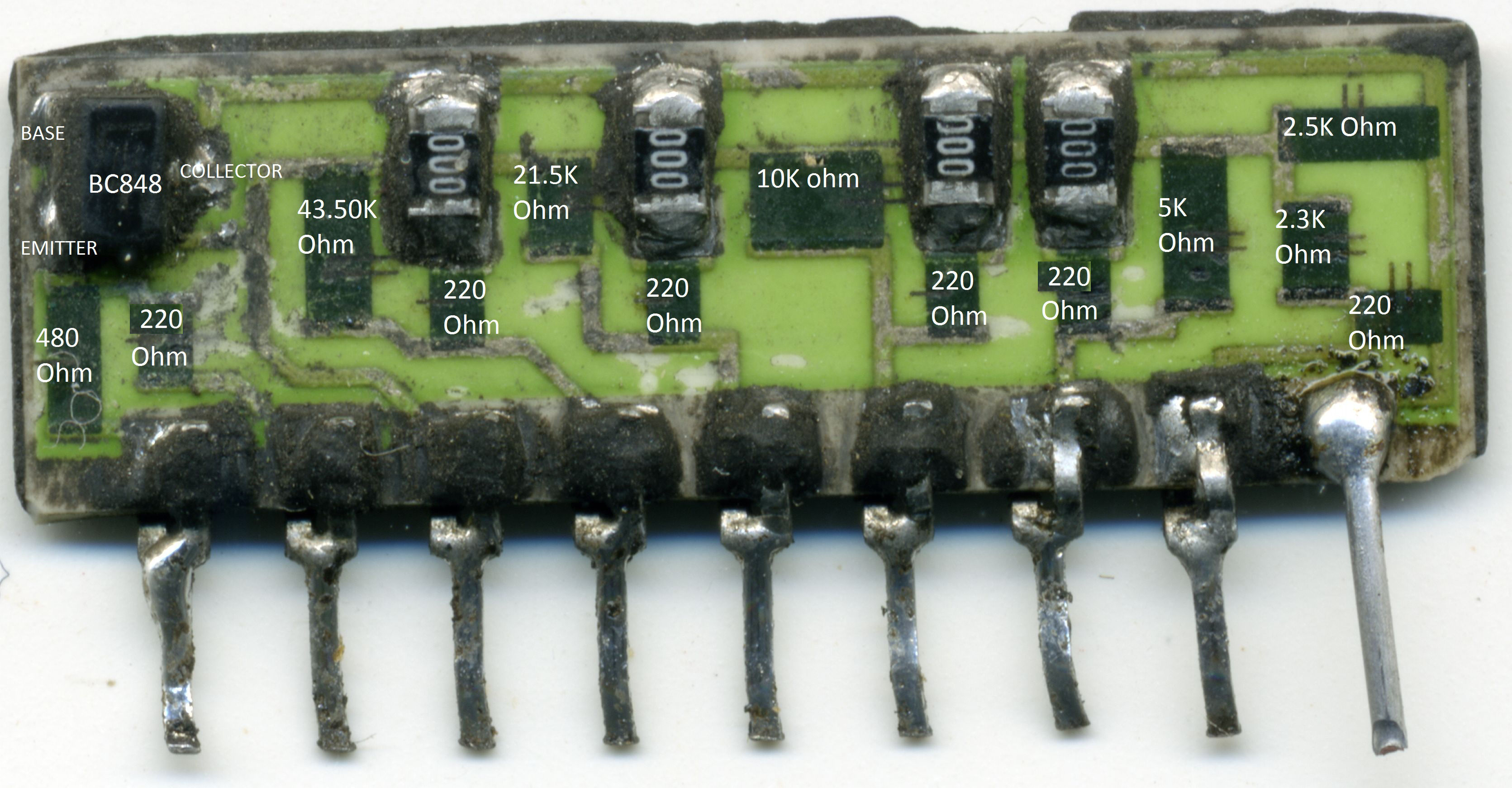 Page 21 Printed Circuit Board Of Transistors Capacitors And Other Components Is Nothing More Than A R 2r Resistor Ladder With The Resistors Values Tipically Doubled Starting From 25kohm Up To 4350kohmthe Npn Transistor I